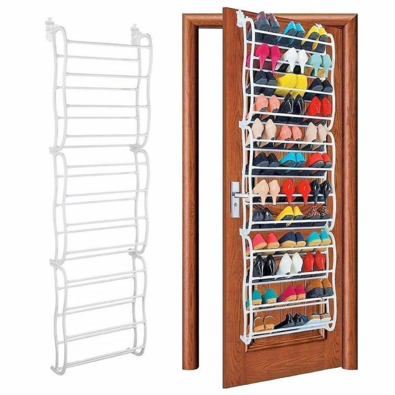 Details About 36 Pairs Over The Door Shoe Rack For Wall Hanging Closet Organizer Storage Stand