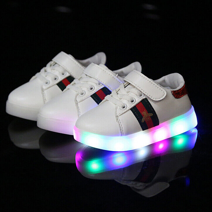 Details about Child Kids Boys Girls Light Up Shoes LED Flashing Trainers  Casual Sneakers Hot bbc482139265