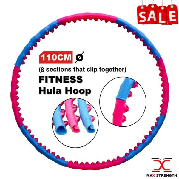 Hula Hoop Fitness Abs Exercise Collapsible 1.7KG Weighted Gym Workout Pro Hoola