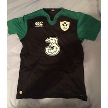 Ireland Irish Rugby Top Shirt Canterbury Large Mens Black With Green
