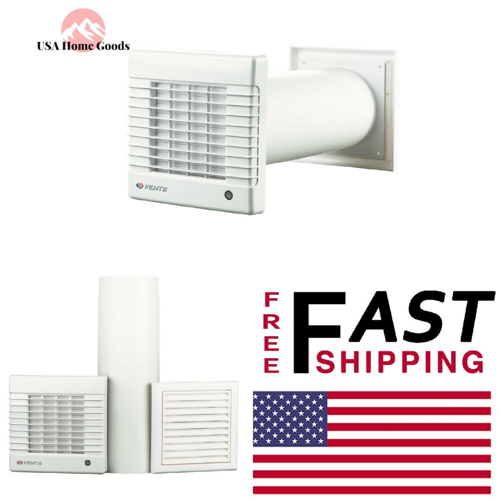 White Wall Garage Ventilation Kit Cooling Exhaust Fan Home ...