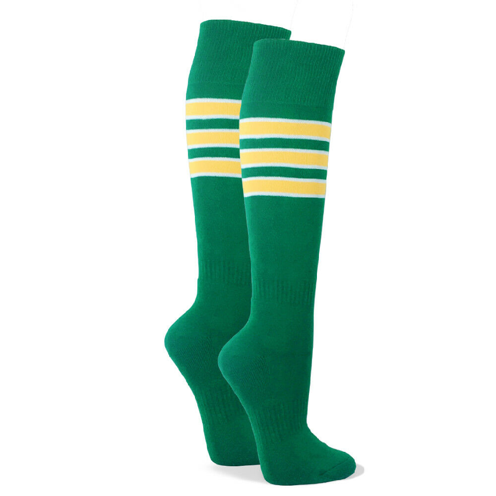 0be2c2a2d Details about Couver Premium Like Oakland Athletics Style Striped Tube Knee  High Sports Socks