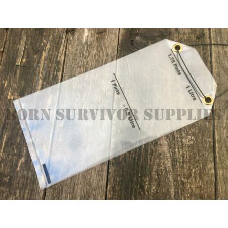 img-2 x SURVIVAL KIT PLASTIC WATER COLLECTION BAG - Bushcraft Army RAF SERE E&E SAS