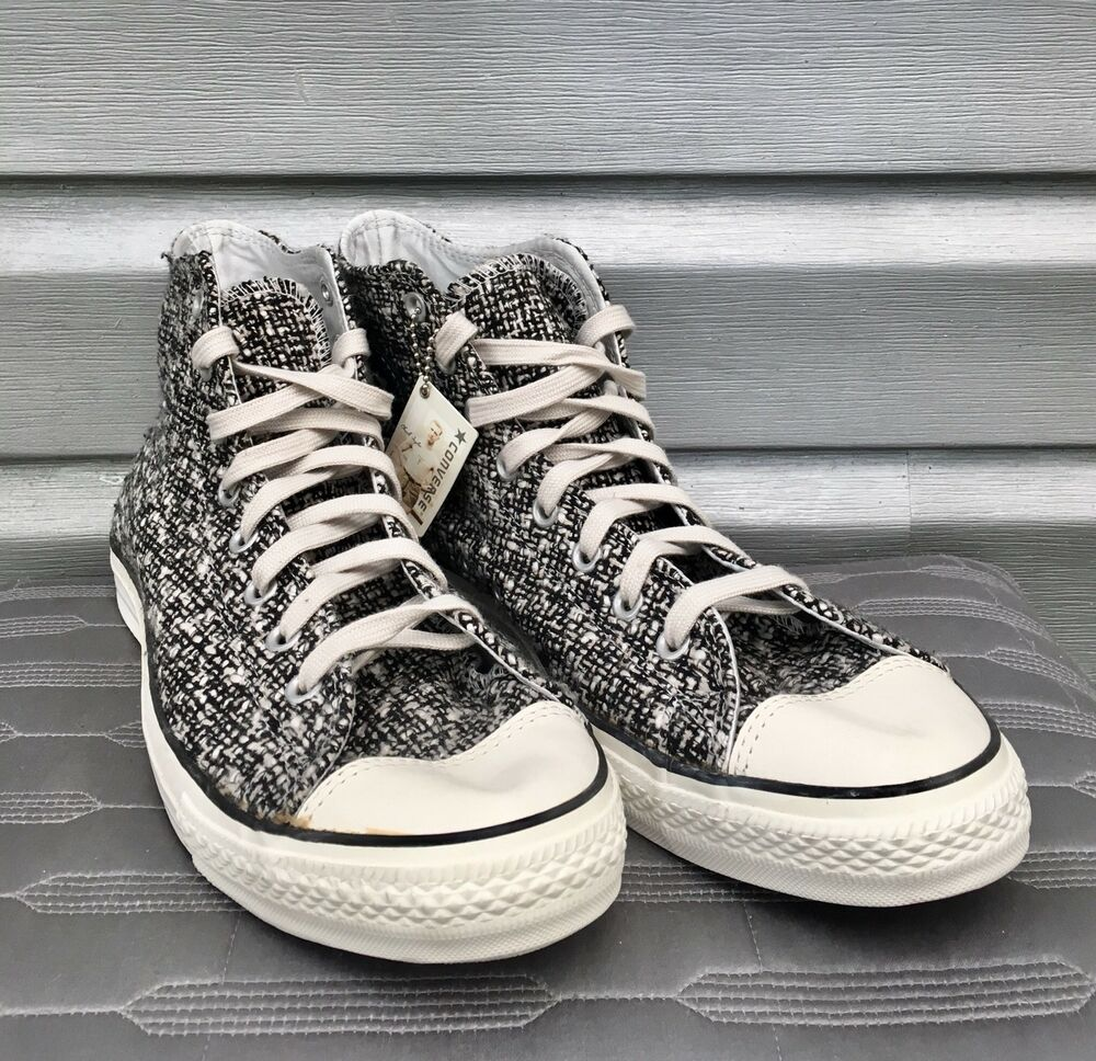 ce469d446e5b Details about converse twill tweed chuck taylor all star high top lace up  sneakers rare jpg