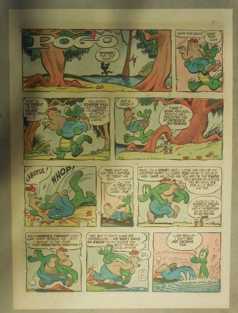 Details about Pogo Sunday by Walt Kelly from 3 17 1957 Tabloid Size! 9a8a5d2d6e54