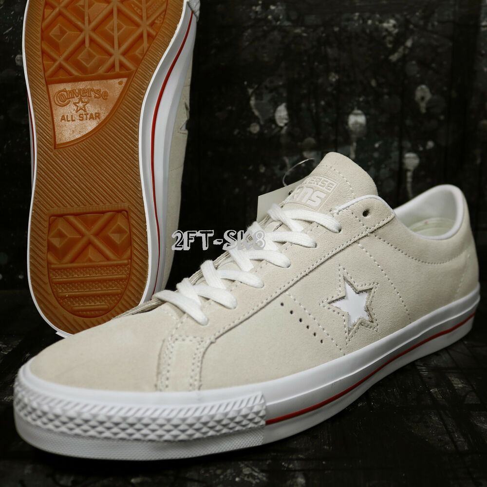 5724d8178ddfb5 Details about Converse ONE STAR SKATE SUEDE WHITE EGRET SKATE SHOES SIZE  11.5 G8A129.115