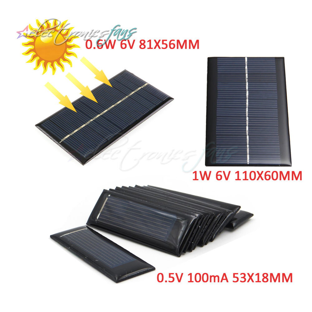 05v 100ma 06w 6v 1w 6v epoxy photovoltaic battery charger solar