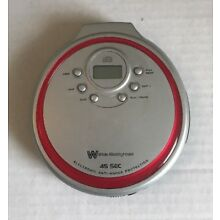 White Westinghouse WDM13626CK Portable  Compact CD Disc Player, Tested & Working