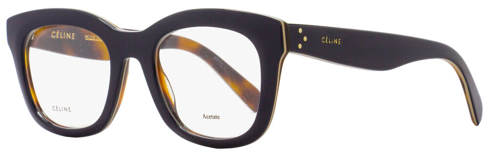 c40246d78386 Celine Square Eyeglasses CL41378 273 Size  48mm Dark Navy Havana 41378  762753910127