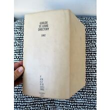 1902 Original ST. LOUIS, MISSOURI, CITY DIRECTORY with EVERY RESIDENT & BUSINESS
