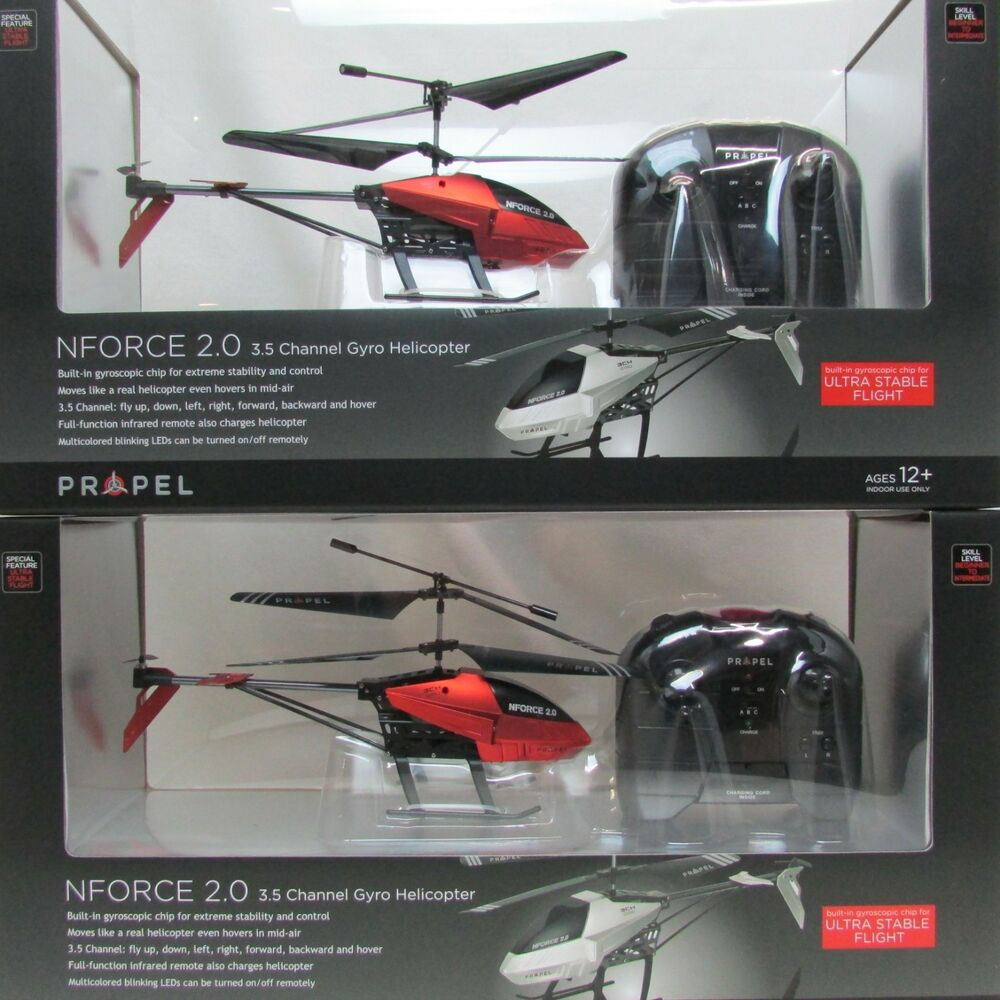 Remote Control Helicopter Nforce 20 35 Channel Gyro Rc Drone 2 5 Radio Pack Ebay