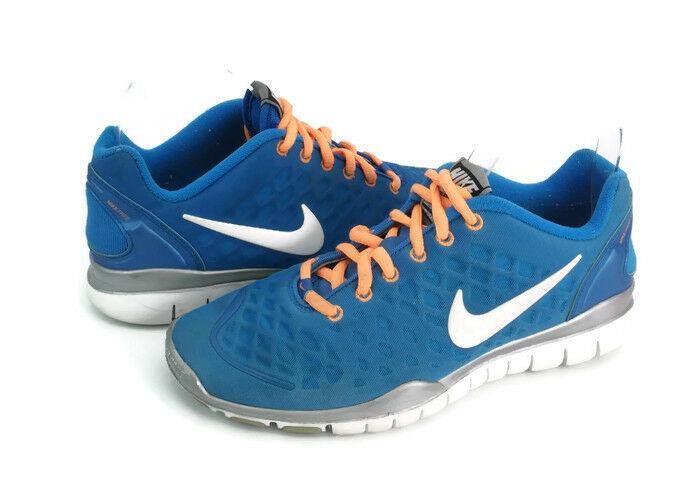 official photos 665ed 02fa5 Details about Nike Free Tr Fit Women s Blue Lace Up Athletic Running Shoes  US Size 7.5