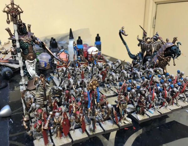 Tomb Kings Of Khemri - Death rattle - Warhammer - OOP - painted - Age Of sigmar