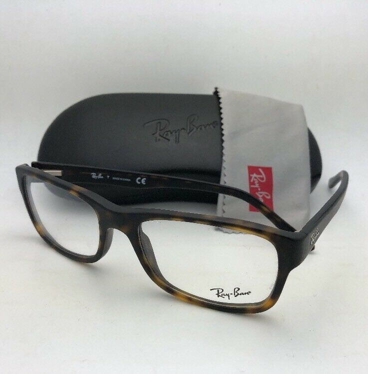 4424c0a528460 New RAY-BAN Rx-able Eyeglasses RB 5268 5211 55-18 145 Matte Tortoise Frames