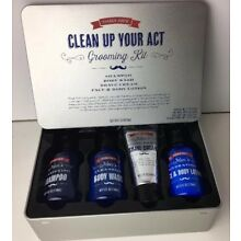 TRADER JOE'S Clean Up Your Act Grooming Kit Shampoo Shave Cream Wash Lotion NEW