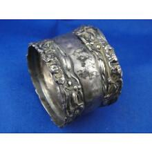 Victorian Sterling Silver Repousse Floral Napkin Ring
