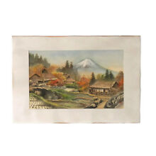 Antique Japanese Silk Painting by