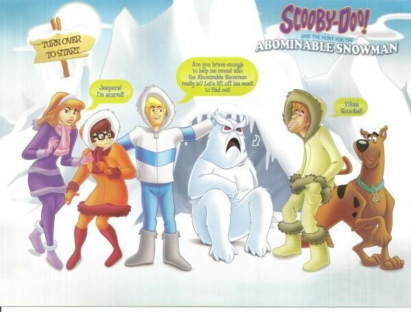 McDonalds Scooby Doo Abominable Snowman pop out U.K happy meal unused