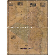 1854 Map of Rockland County New York