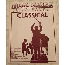 Music Maker Lap Harp Song Packet - Classical