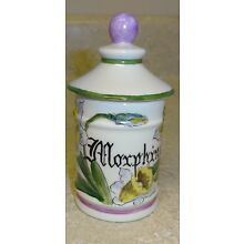 French Limoges Porcelain apothecary pharmacy jar Morphine