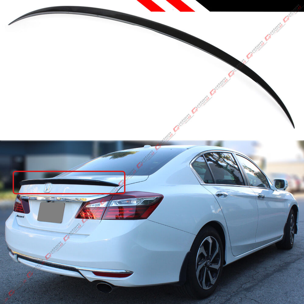 Details About For 2017 Honda Accord 4dr Sedan Painted Black Sport Trunk Lid Spoiler Wing