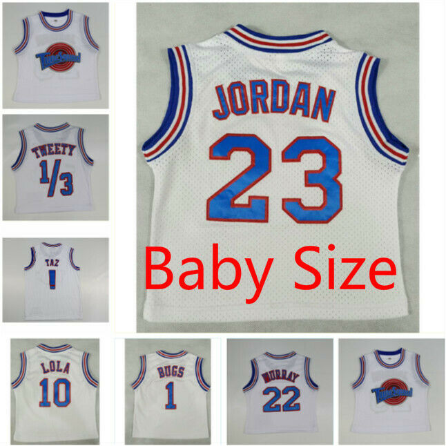 422428cf9a1fd8 Details about Baby Size Space Jam Tune Squad Basketball Jersey and Shorts  Lola Bugs Jordan