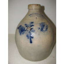 Antique New York Stoneware Jug, J.B. Caire