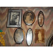 Lot of Vintage Antique Silver Plate Photo Frames Picture Mantle Display