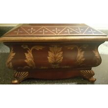 Storage Box Wooden Painted Antique