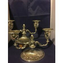 Gorham Sterling Silver Pair Of Two Lite Candelabra 1900-1940