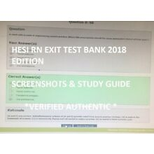 HESI Exit Exam RN TEST BANK 2017-2018 BONUS INCLUDED - SCREENSHOTS AND REVIEW