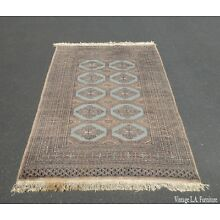 Vintage Hand Woven Wool Pakistan Bokhara Area Rug 51