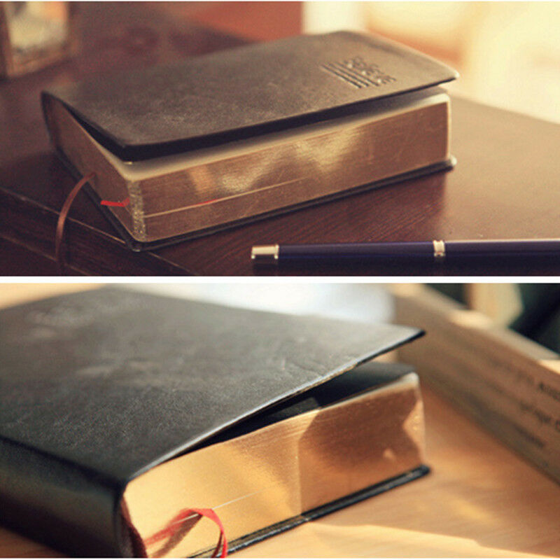 b1022e8ba198b Details about 1 Pc Vintage Retro Paper Notebook Leather Diary Book Agenda  Planner Notebook