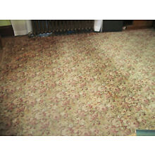 Antique Whittall Floral Wool Carpet 9 x 12 Rug Rose Gold Worcester, MA