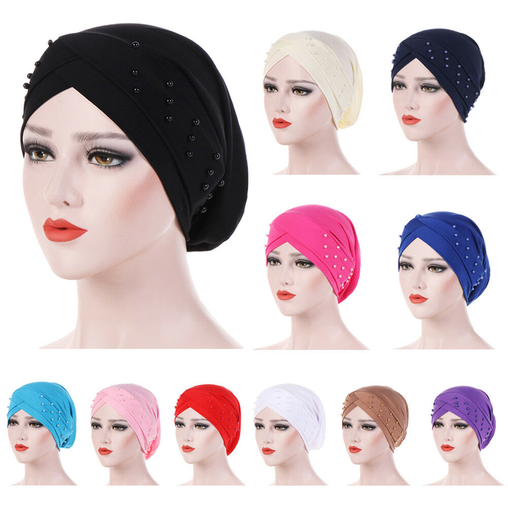 58928529e3296 Details about Women Muslim Cancer Chemo Hat Beanie Scarf Hair Loss Turban  Head Wrap Cap Hat