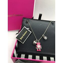 Kyпить NIB JUICY COUTURE PENDANT ROBOT CRITTER NECKLACE CHARM PINK на еВаy.соm