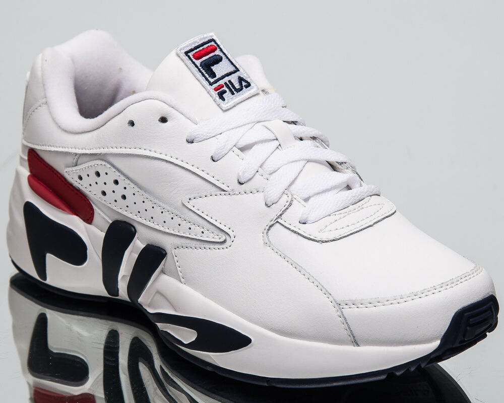 7a5143acfe40 Details about Fila Mindblower Men s New Lifestyle Shoes White Navy Red  Sneakers 1RM00119-125