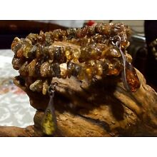 Sterling Silver Handcrafted AMBER Bracelet Coiled Bracelet With Sterling Charms