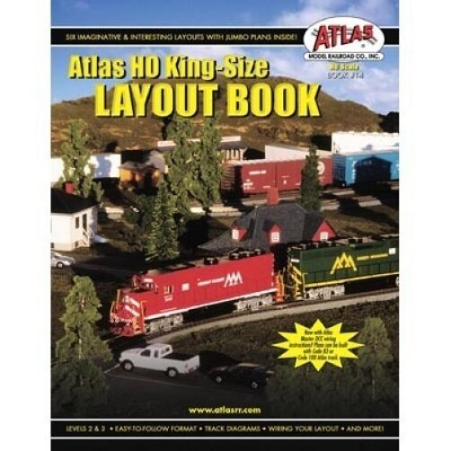 details about atlas #14 ho scale - king size layout book