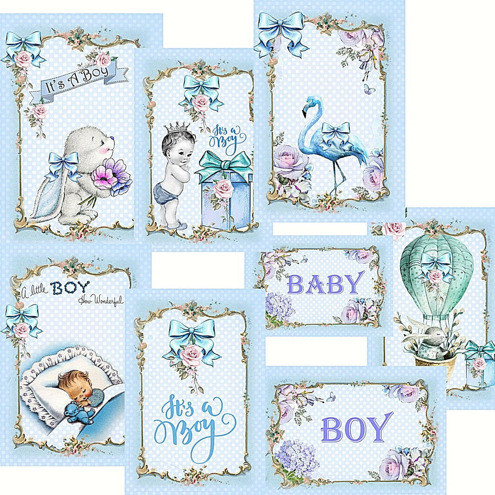 Card Toppers Baby Boy Its A Boy Baby Shower Card Making Baby