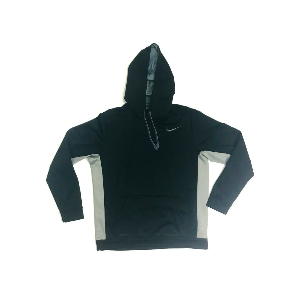 ee2d79e2be14 Details about Nike Grey + Black Hoodie