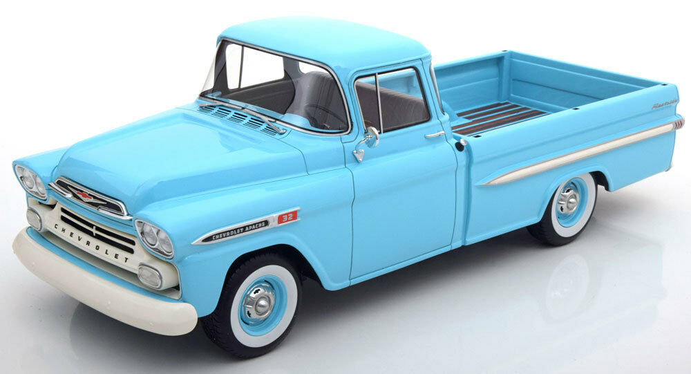 1959 Chevrolet Apache Pickup Light Blue By Bos Models Le Of 504 118