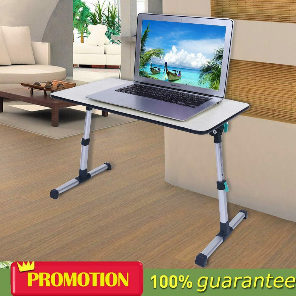 Details About Adjule Portable Folding Laptop Table Stand Tray Computer Desk For Sofa