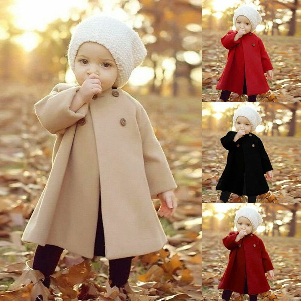 1b157dcc80e4 Details about Fall  Winter Jacket Outwear Clothes Newborn Infant Baby Girl  outerwear Coat Kid