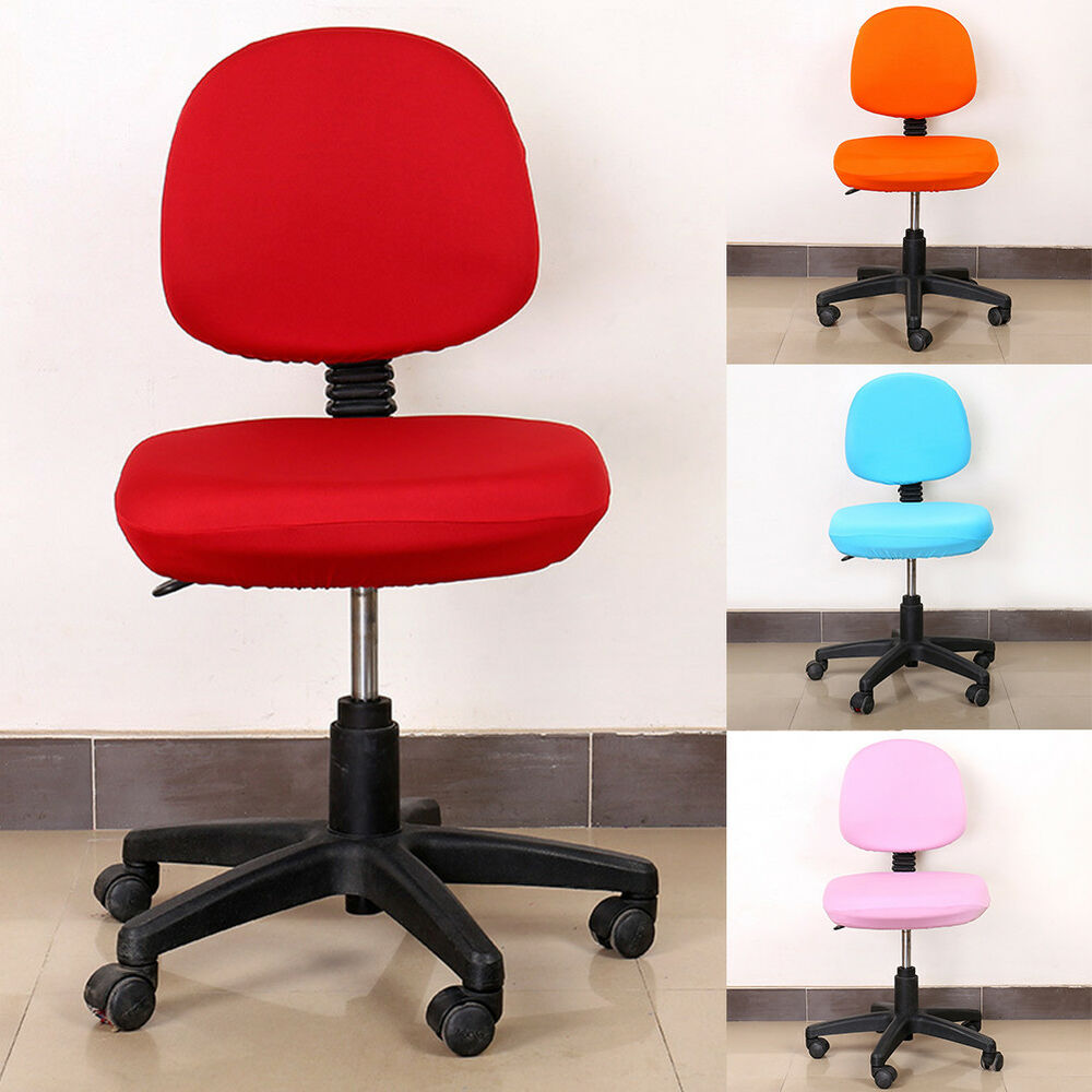 Details about Removable Office Computer Lift Swivel Chair Seat Cover Case with Headrest Cover & Removable Office Computer Lift Swivel Chair Seat Cover Case with ...