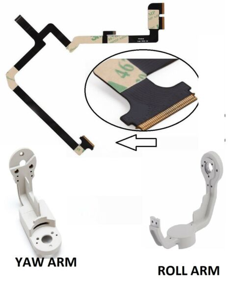 NEW Gimbal Parts  Flex Cable Aluminum For DJI Phantom 4 Yaw Arm & Roll  Arm