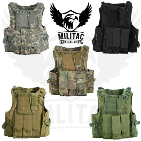 img-Tactical Vest. Airsoft /Paintball Vest / Molle Combat Assault Vest + Mag Pouches