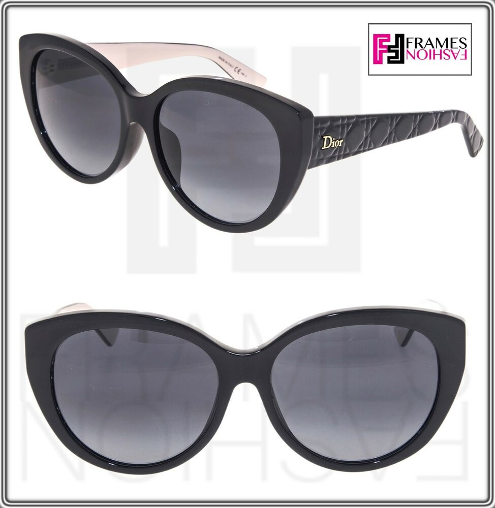 bc861e07b8 Details about CHRISTIAN DIOR LADY 2R Black Leather Pink Rubber Signature  Sunglasses LADY2RF