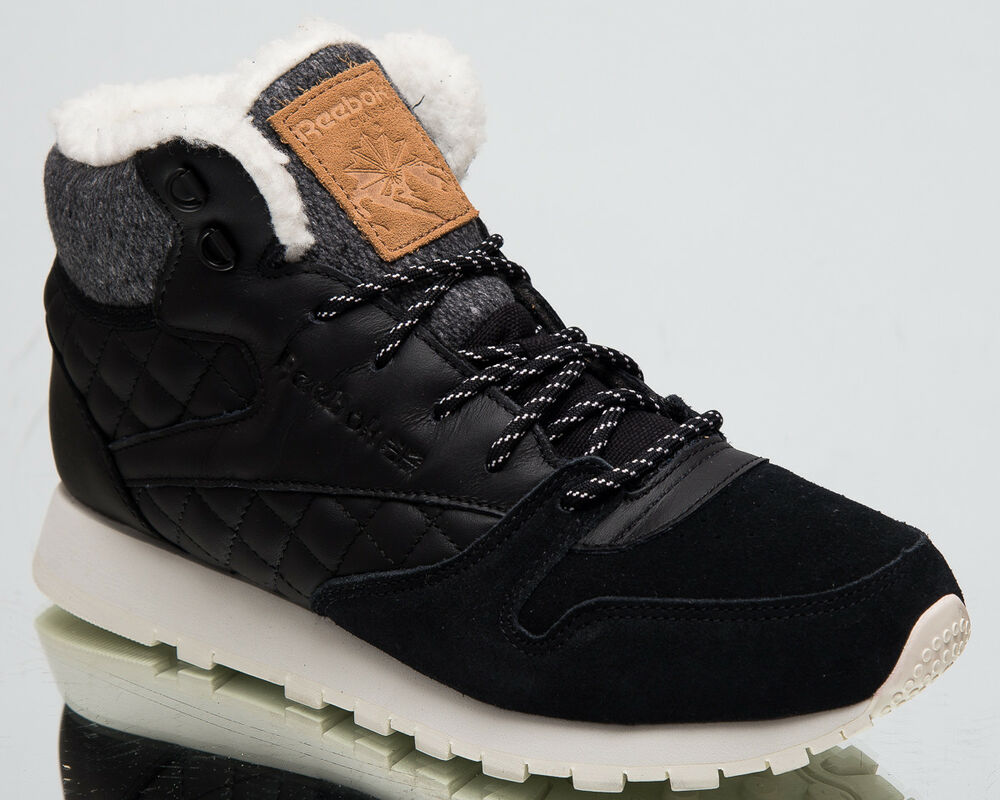 e0b7df1a9aa7f0 Details about Reebok Women s Classic Leather Arctic Boot Lifestyle Shoes  Black Chalk CN3744